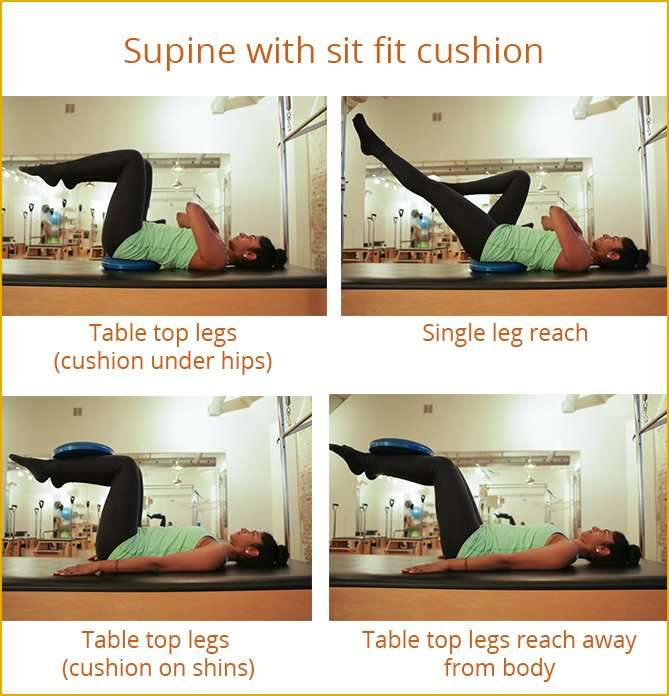 Supine with sit fit cushion