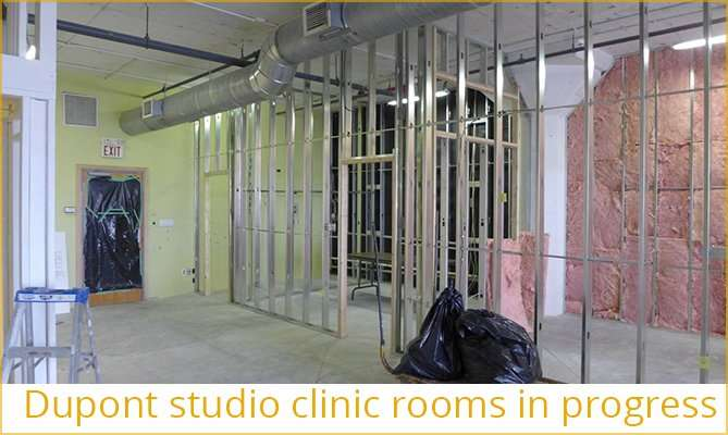Dupont studio clinic rooms in progress