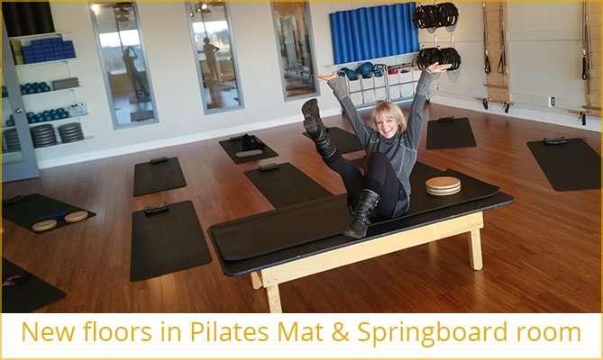 New floors in Pilates Mat Room