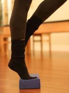 Single Leg Calf Raise on Yoga Block