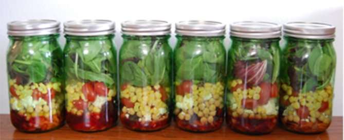 Salad in a jar-st
