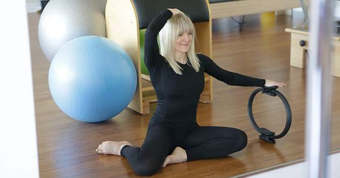 Mermaid with Pilates Ring